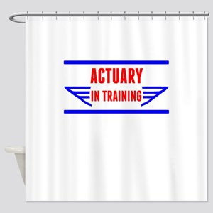 Actuary In Training Shower Curtain