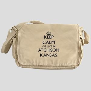 Keep calm we live in Atchison Kansas Messenger Bag