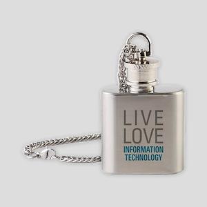 Information Technology Flask Necklace