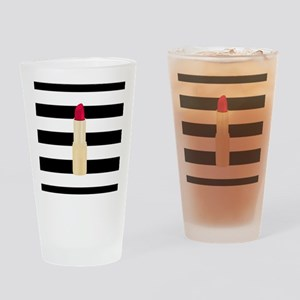 Red Lipstick Strioes Drinking Glass