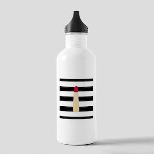 Red Lipstick Strioes Water Bottle