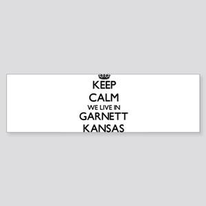 Keep calm we live in Garnett Kansas Bumper Sticker