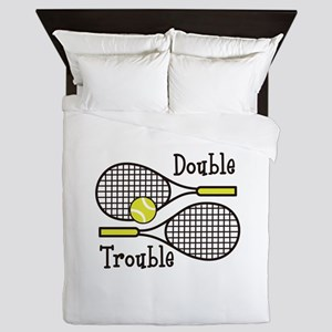 DOUBLE TROUBLE Queen Duvet