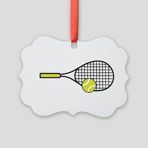 TENNIS RACQUET & BALL Ornament