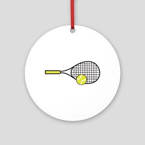 TENNIS RACQUET & BALL Ornament (Round)