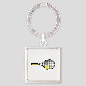 TENNIS RACQUET & BALL Keychains