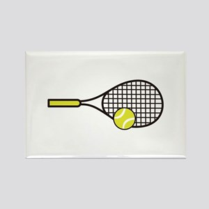 TENNIS RACQUET & BALL Magnets