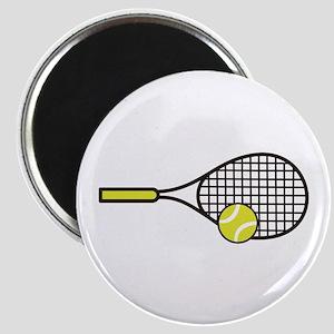 TENNIS RACQUET & BALL Magnets
