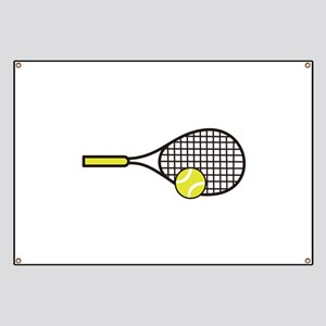 TENNIS RACQUET & BALL Banner