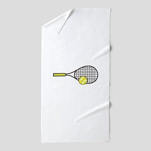 TENNIS RACQUET & BALL Beach Towel