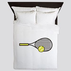 TENNIS RACQUET & BALL Queen Duvet