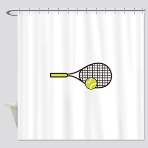 TENNIS RACQUET & BALL Shower Curtain