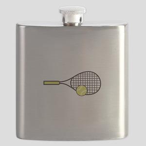 TENNIS RACQUET & BALL Flask