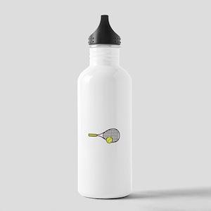 TENNIS RACQUET & BALL Water Bottle