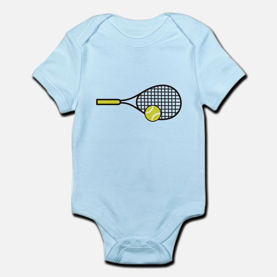 TENNIS RACQUET & BALL Body Suit