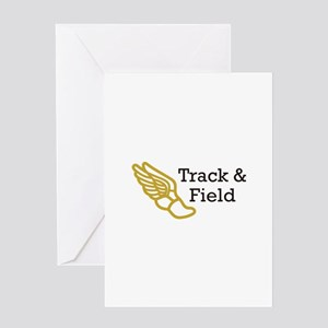 TRACK AND FIELD Greeting Cards