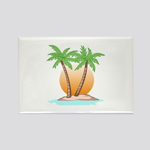 PALM TREES AND SUN Magnets