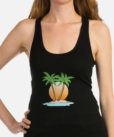 PALM TREES AND SUN Racerback Tank Top