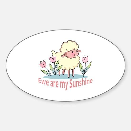EWE ARE MY SUNSHINE Decal