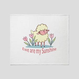 EWE ARE MY SUNSHINE Throw Blanket