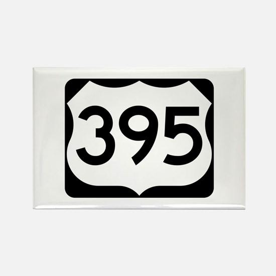 US Route 395 Rectangle Magnet
