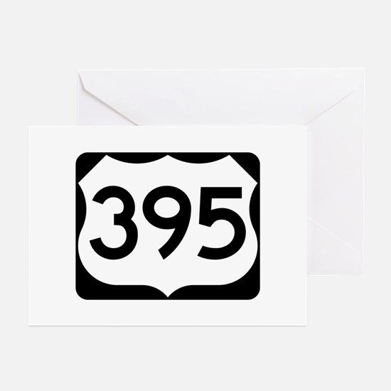US Route 395 Greeting Cards (Pk of 10)