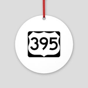 US Route 395 Ornament (Round)
