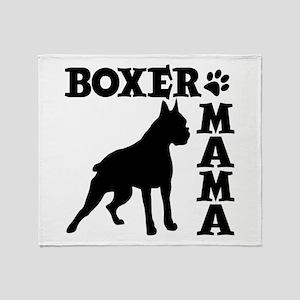 BOXER MAMA Throw Blanket