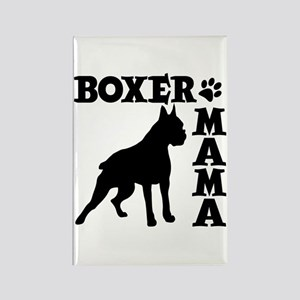 BOXER MAMA Rectangle Magnet