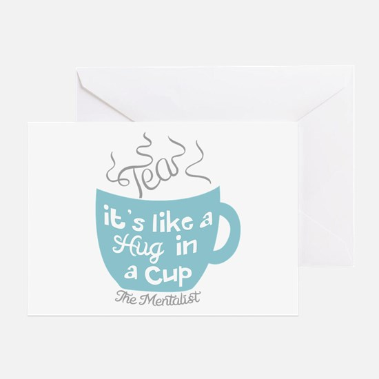 Tea Hug In A Cup The Mentalist Greeting Cards