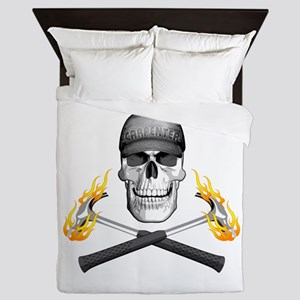 Skull And Flaming Hammers Queen Duvet