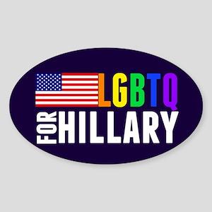 LGBTQ Hillary Sticker (Oval)