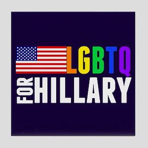 LGBTQ Hillary Tile Coaster