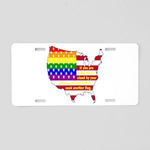 Lgbt Pride Flag Usa Aluminum License Plate