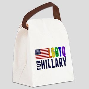 LGBTQ for Hillary Canvas Lunch Bag