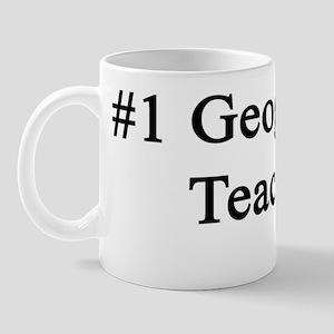 #1 Geography Teacher Mug