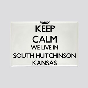 Keep calm we live in South Hutchinson Kans Magnets