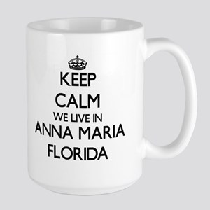 Keep calm we live in Anna Maria Florida Mugs