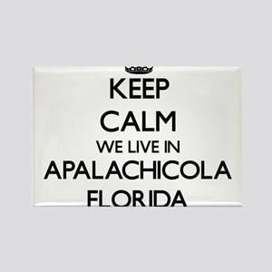 Keep calm we live in Apalachicola Florida Magnets