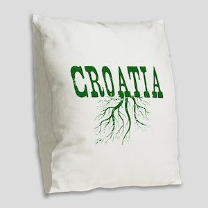 Croatia Roots Burlap Throw Pillow