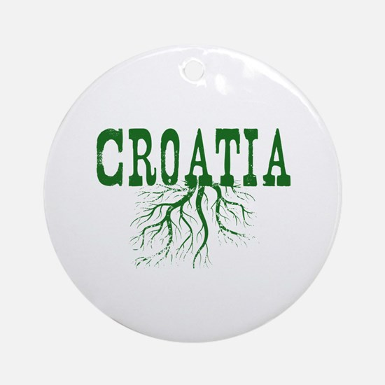 Croatia Roots Ornament (Round)