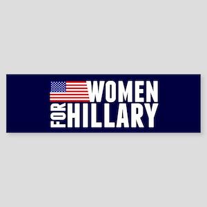 Women Hillary Blue Sticker (Bumper)