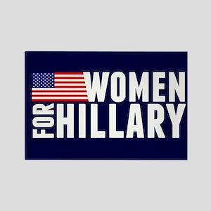Women Hillary Blue Rectangle Magnet