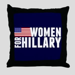 Women Hillary Blue Throw Pillow