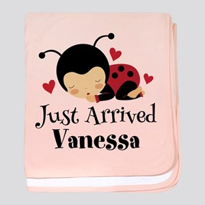 New Baby Just Arrived Personalized baby blanket
