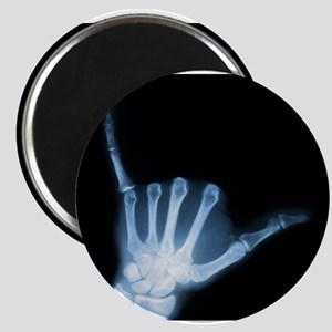 Shaka Hand Sign X-ray ALOHA Magnets