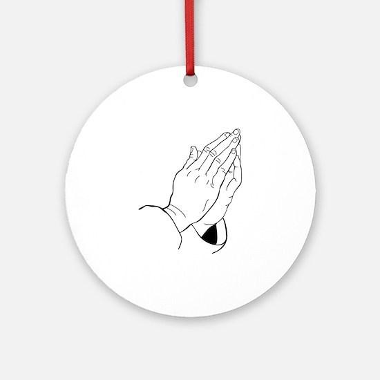 PRAYING HANDS Ornament (Round)
