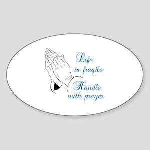 HANDLE WITH PRAYER Sticker