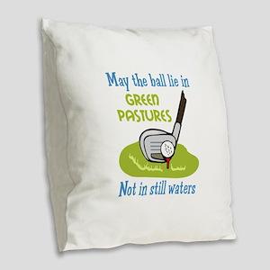 GOLFERS PRAYER Burlap Throw Pillow