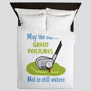 GOLFERS PRAYER Queen Duvet